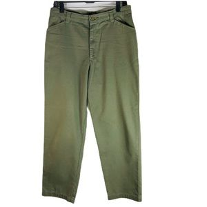 Vintage Riders Casual Green High Waist Pants 12P